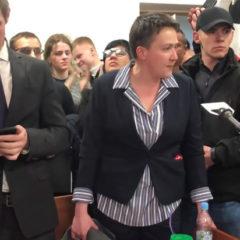 Савченко после освобождения обратилась к народу Украины