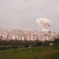 Появились кадры ракетного удара по боевикам в Сирии