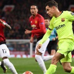 «Барселона» победила «Манчестер Юнайтед» в четвертьфинале Лиги чемпионов
