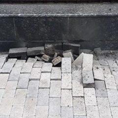 Опубликовано видео с места взрыва у посольства России в Киеве