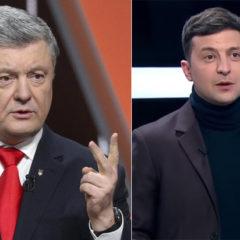 Стало известно об изменениях рейтинга Владимира Зеленского и Петра Порошенко