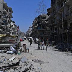 Иностранные журналисты впервые посетили лагерь беженцев на юге Дамаска