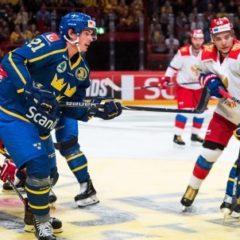Сборная России по хоккею проиграла Швеции на Чешских играх