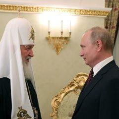 Путин поздравил патриарха Кирилла с днем рождения