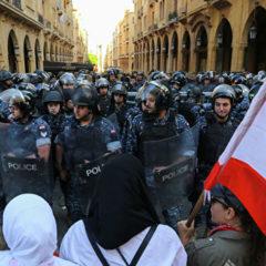 Сторонники шиитских партий разгромили палатки демонстрантов в Бейруте