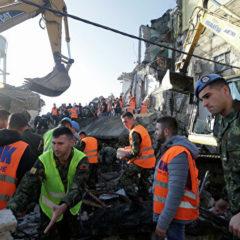 В Албании последствия землетрясения  устраняют 1,9 тысячи полицейских