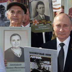 Зюганов поблагодарил Путина за участие в шествии «Бессмертный полк»